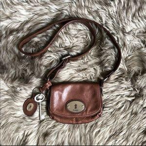 Fossil Maddox Key Brown Leather Crossbody Bag